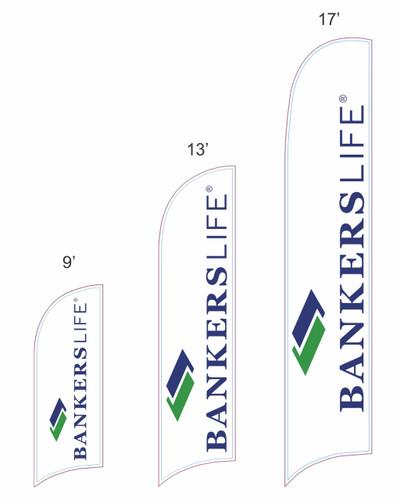 Bankers Life Razor Feather Flag
