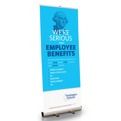 Washington National Profile Retractable Bannerstand
