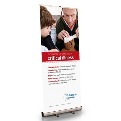 Worksite Critical Illness Retractable Bannerstand
