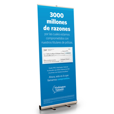 ROP Spanish Retractable Bannerstand