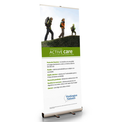 Active Care Retractable Bannerstand - SPANISH