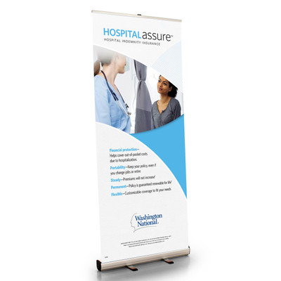 Hospital Assure (Customer) Retractable Bannerstand