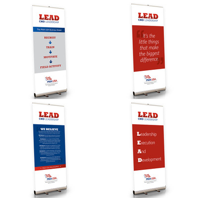 CMD Lead Leadership Program 33.5 X 79 Retractable Banner Set