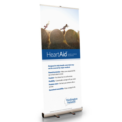 HeartAid Retractable Bannerstand