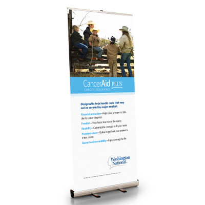 CancerAid Retractable Bannerstand