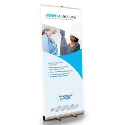 Hospital Assure (AGENT) Retractable Bannerstand - SPANISH