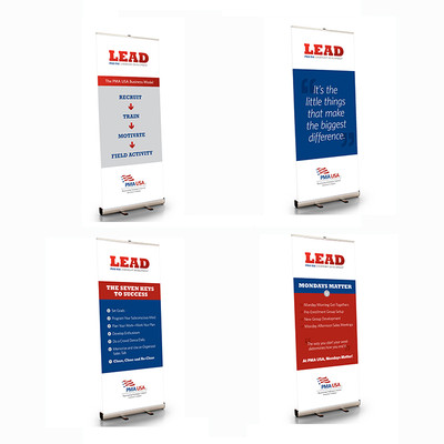 PMA Leadership Program 33.5 X 79 Retractable Banner Set