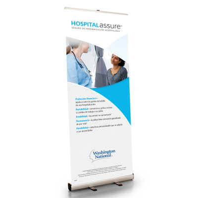 Hospital Assure (CONSUMER) Retractable Bannerstand - SPANISH