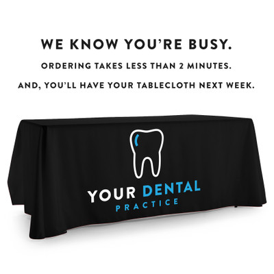 Custom Printed Logo Tablecloth for your Dental Practice