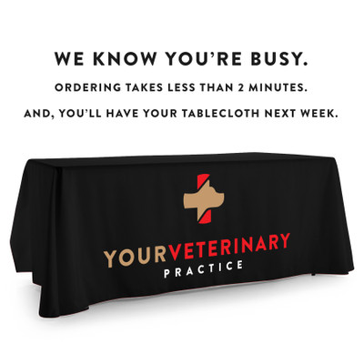 Custom Printed Logo Tablecloth for your Veterinary Business