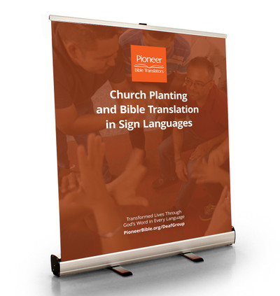 """Church Planting and Bible Translation in Sign Languages Tabletop Retractor (33.5""""W x 41""""T)"""