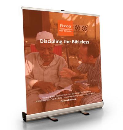 "Discipling the Bibleless Tabletop Retractor (33.5""W x 41""T)"