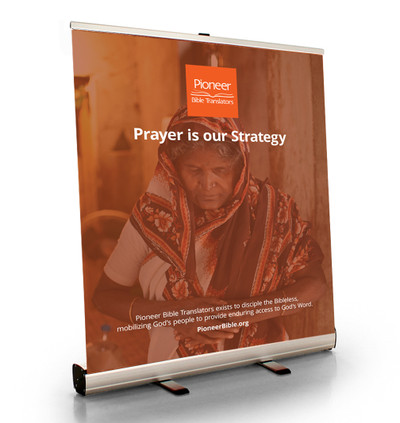 """Prayer is Our Strategy Tabletop Retractor (33.5""""W x 41""""T)"""
