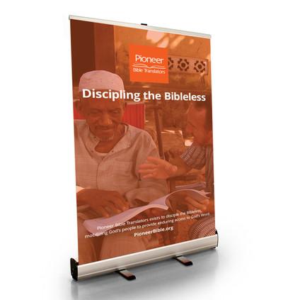 "Discipling the Bibleless Tabletop Retractor (24""W x 41""T)"