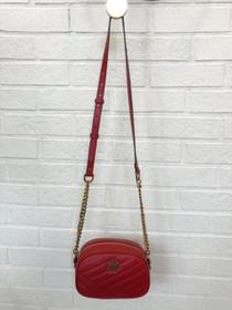 Kira Chevron Small Camera Bag - Red Apple