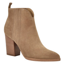 Annabel Bootie - Light Natural Suede