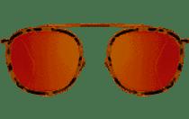 Mykonos Ace E Sunglasses - White Tortoise/Gold/Rose Flat Mirror