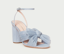 Camellia Knot Mule W/ Ankle Strap