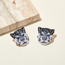 Snow Leopard Earring
