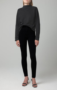 Plush Black Chrissy High Rise Skinny
