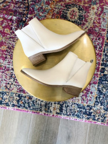 Yale Bootie - Ivory Leather