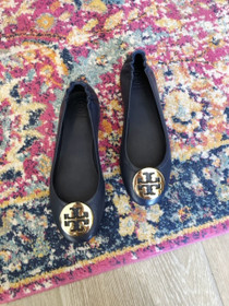Minnie Travel Ballet Flat - Ink Navy/Gold