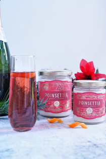 Poinsettia Cocktail Candle