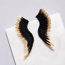 Madeline Earring - Black/Gold