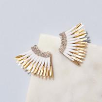 Mini Madeline Earring - White/Gold