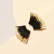Mini Madeline Earring - Black/Gold
