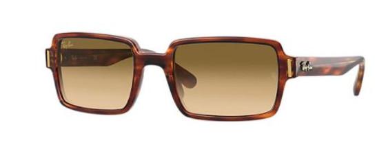 Benji Striped Havana w/ Clear Gradient Brown Lenses