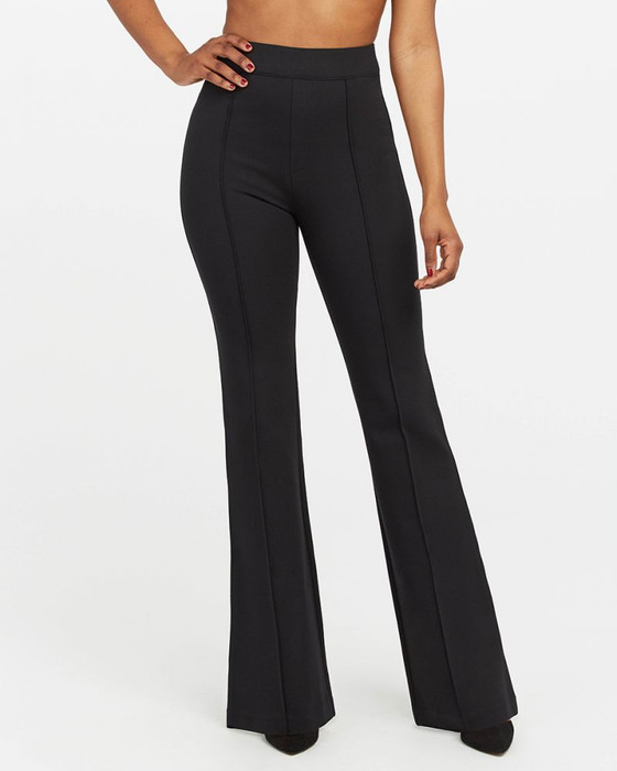 Perfect Black Pant Hi Rise Flare- Black