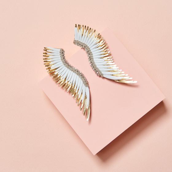 Madeline Earring - White/Gold