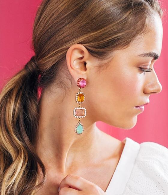 Emily Four Drop Earring - Multi