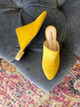 Raleigh Label Slides - Yellow Suede