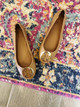 Minnie Travel Ballet Flat - Royal Tan/Gold