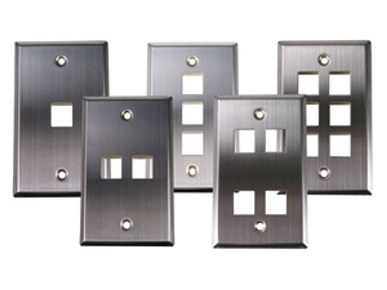 4Port Stainless Steel Single-Gang Wallplate