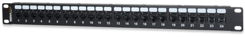 Signamax 24-Port Category 6 MT-Series Unscreened Patch Panel, 1 RMU