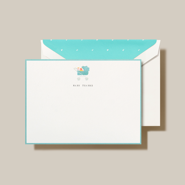 10 cards 10 envelopes Printed on 100% cotton rag paper Flat note card