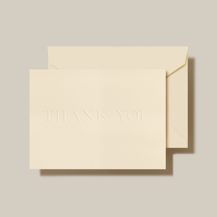 Ecru Finish Fold Over Note Card 10 Notes 10 Envelopes 100% Cotton 3 15/16 x 5 9/16