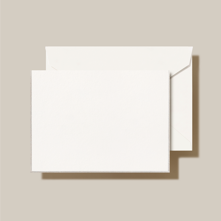 Pearl White Finish Fold Over Note Card 10 Notes 10 Envelopes 100% Cotton 3 15/16 x 5 9/16