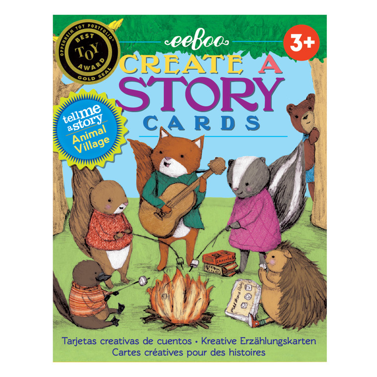 Join the animals in this village as they dance, sing, and play. Recurring characters, locations, and props encourage linking the cards in endless combinations for fresh, new stories every time it's played. Use this beautifully illustrated visual card set byStephanie Graegin to create your own stories! Can be played individually or in a group, make up your own way to play!