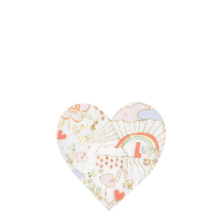 Small heart napkin