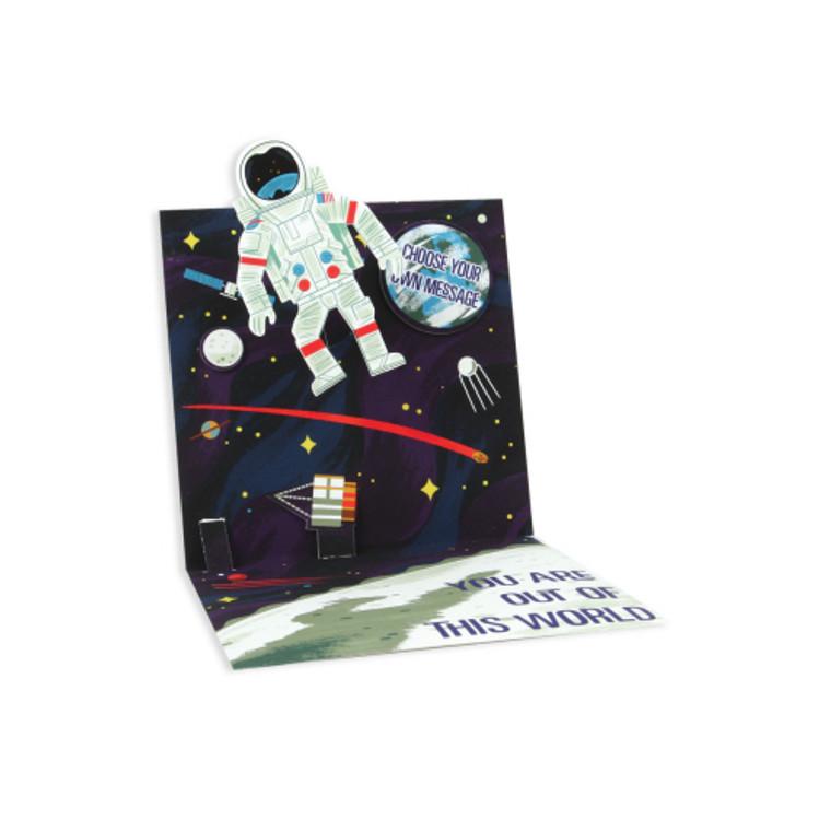 Astronaut Pop-Up Greeting Card