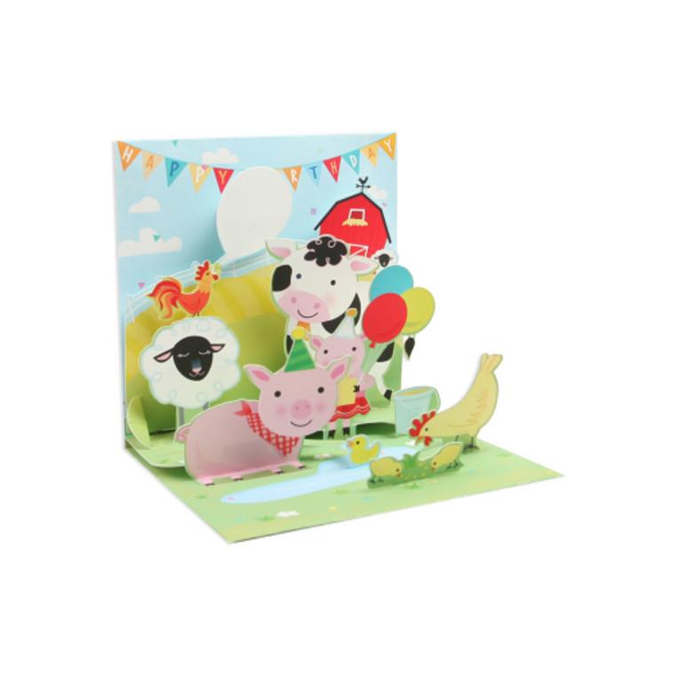 Farm Birthday Pop-up Greeting Card