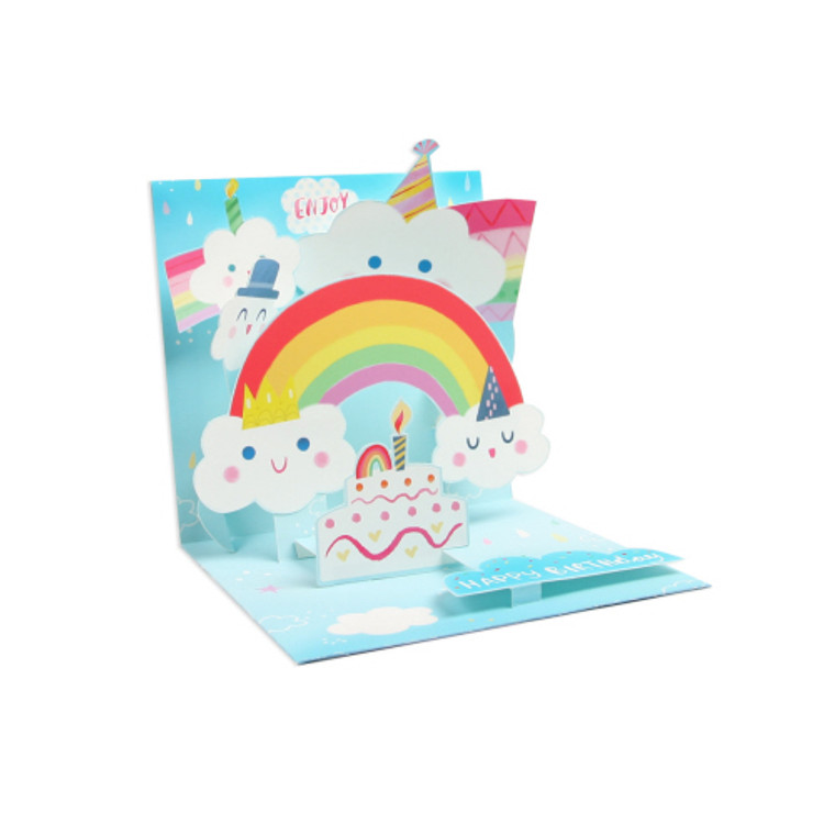 Happy Clouds Pop-up Greeting Card
