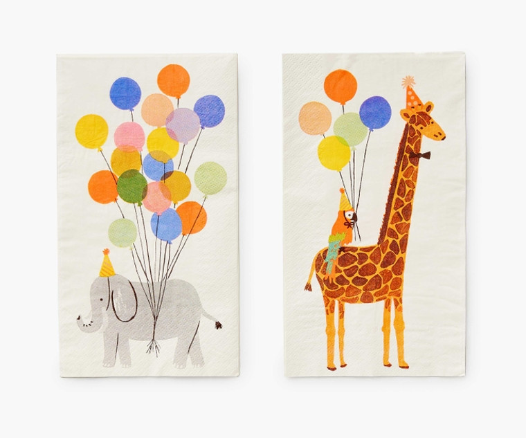 Party Animals Guest Towel