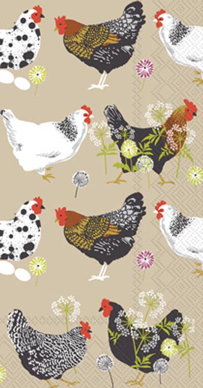 Spatter Hens Guest Towels