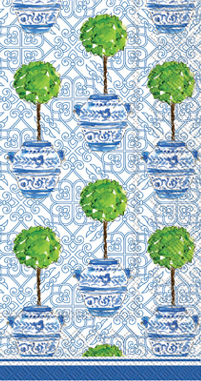 Rosannebeck Blue Topiary Cocktail Napkin