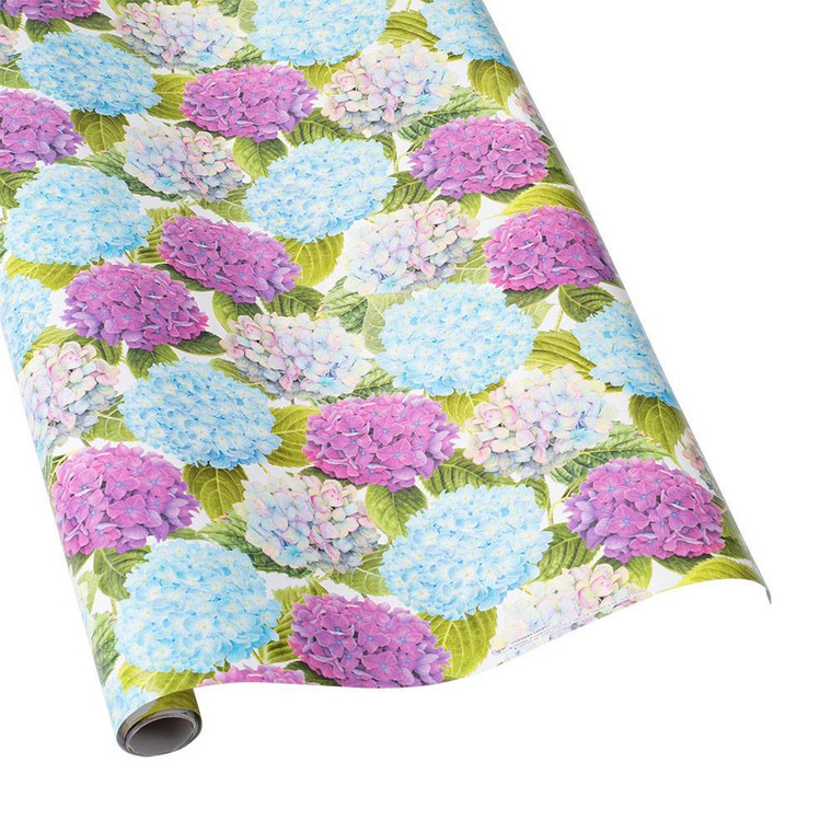 """Hydrangea Garden Gift Wrapping Paper - 30"""" x 5' Roll"""